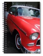 1956 Red And White Chevy Spiral Notebook