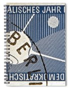 1957 - 1958 East German Sputnik Stamp Spiral Notebook