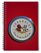 1957 Red Corvette Emblem Spiral Notebook