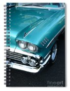 1958 Chevy Belair Front End 01 Spiral Notebook