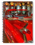 1959 Cadillac At The Pumps Spiral Notebook