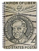 1959 Champion Of Liberty Stamp Spiral Notebook