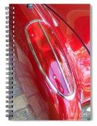1960 Chevrolet Corvette Tail Light Spiral Notebook