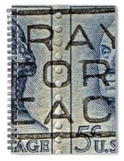 1962 Pray For Peace Stamp Collage Spiral Notebook