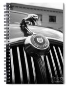 1963 Jaguar Front Grill In Balck And White Spiral Notebook