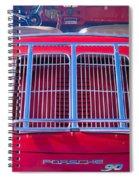 1963 Red Porsche 356b Super 90 Back End Spiral Notebook
