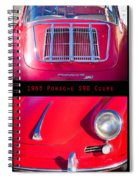 1963 Red Porsche S90 Coupe Poster Spiral Notebook