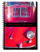 1963 Red Porsche S90 Coupe Poster S Spiral Notebook
