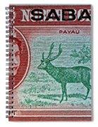 1964 North Borneo Sabah Stamp Spiral Notebook