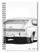 Dodge Charger Spiral Notebook