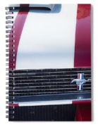 1966 Red Ford Mustang Shelby Gt350 Front Spiral Notebook