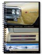 1967 Bronze Pontiac Firebird  Poster S Spiral Notebook