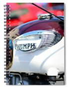 1967 Triumph Gas Tank 3 Spiral Notebook