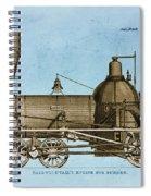 19th Century Locomotive Spiral Notebook