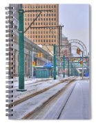 1st Real Snowfall Metro Rail 2012 Spiral Notebook