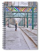 1st Real Snowfall Metro Rail Downtown Spiral Notebook