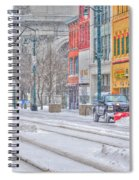 1st Real Snowfall Plow 2012 Spiral Notebook