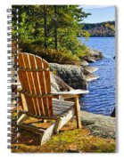 Adirondack Chairs At Lake Shore Spiral Notebook