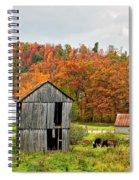 Autumn Farm Spiral Notebook