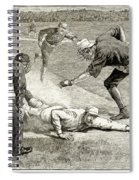 Baseball Game, 1885 Spiral Notebook