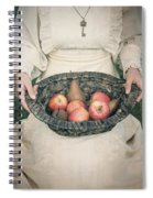 Basket With Fruits Spiral Notebook