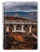 Bridge Over Autumn Spiral Notebook