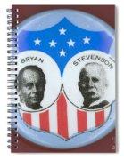 Bryan Campaign Button Spiral Notebook