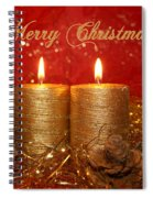 2 Candles Christmas Card Spiral Notebook