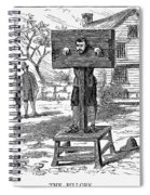 Colonial Pillory - To License For Professional Use Visit Granger.com Spiral Notebook