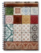 Colorful Glazed Tiles Spiral Notebook