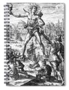 Colossus Of Rhodes Spiral Notebook