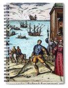 Columbus: Departure, 1492 Spiral Notebook