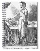 Death Of Lincoln, 1865 Spiral Notebook