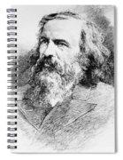 Dmitri Mendeleev, Russian Chemist Spiral Notebook
