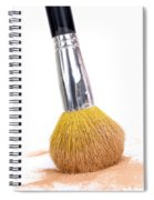 Face Powder And Make-up Brush Spiral Notebook