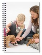 Family With Cockerpoo Pups Spiral Notebook