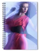 Fashion Photo Of A Woman In Shining Blue Settings Spiral Notebook