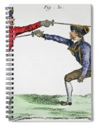 Fencing, 18th Century Spiral Notebook