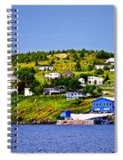 Fishing Village In Newfoundland Spiral Notebook