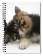 German Shepherd Puppy Spiral Notebook