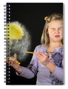 Girl Popping A Balloon Spiral Notebook