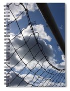 Goal Against Cloudy Sky. Spiral Notebook