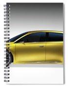 Gold Lexus Lf-ch Hybrid Car Spiral Notebook