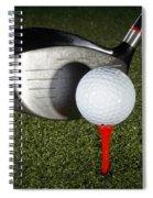 Golf Ball And Club Spiral Notebook