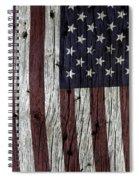 Grungy Textured Usa Flag Spiral Notebook