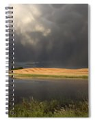 Hail Storm And Rainbow Spiral Notebook