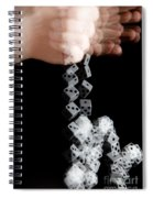 Hand Rolling Dice Spiral Notebook
