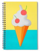Ice Cream On Hand Made Paper Spiral Notebook
