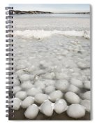 Ice Forming On Lake Spiral Notebook