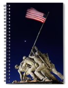 Iwo Jima Memorial At Dusk Spiral Notebook